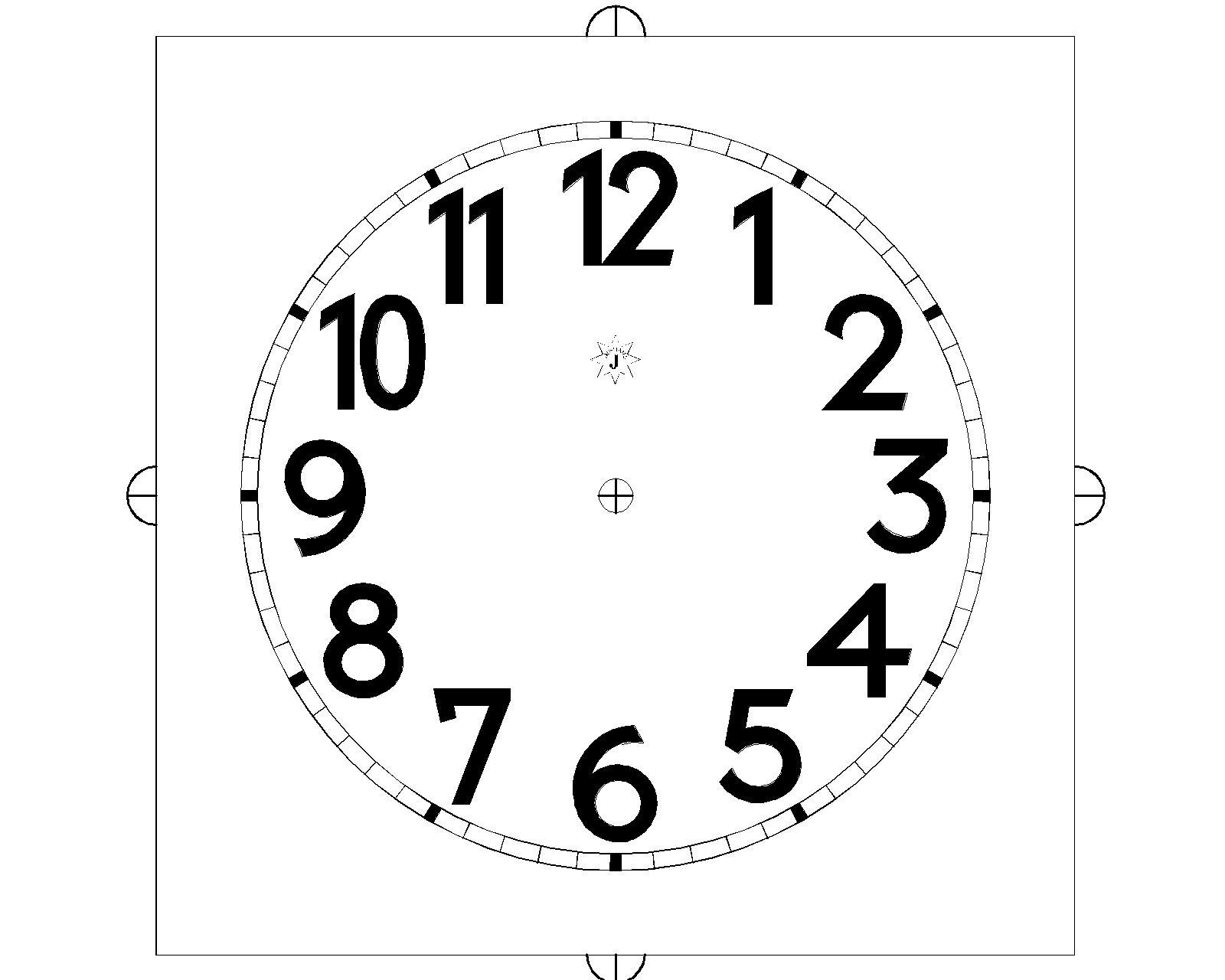 stampa quadranti orologi