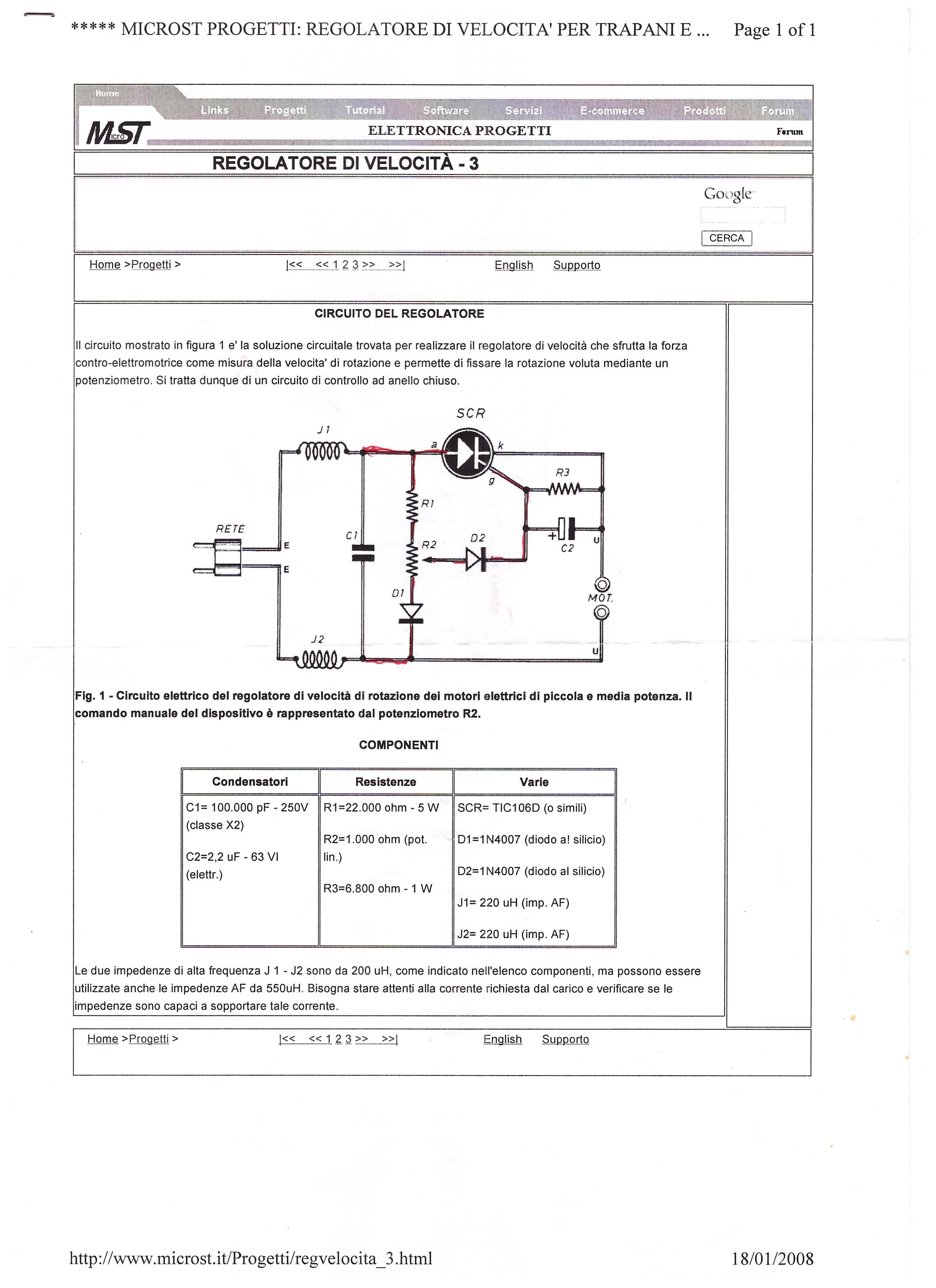 Orologiko leggi argomento variatore di velocita 39 for Pedale elettrico per macchina da cucire