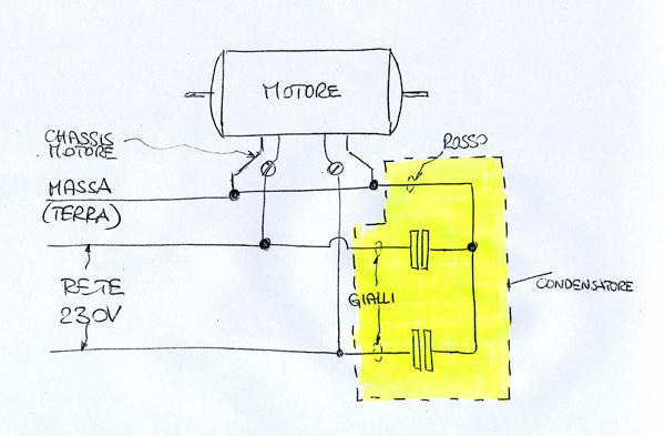 Schema Elettrico Tergicristallo 5 Fili : Schema collegamento motore lavatrice fili per