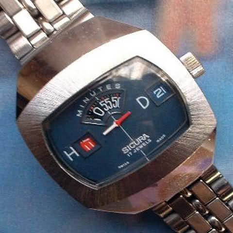 orologio sicura anni 70